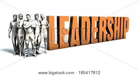 Business People Team Focusing on Improving Leadership as a Concept 3D Illustration Render