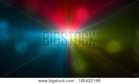 Color Lens Flare With Boke Background