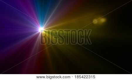 Colorful Flash Lens Flare