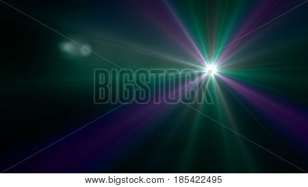 Green Color Flash Flare