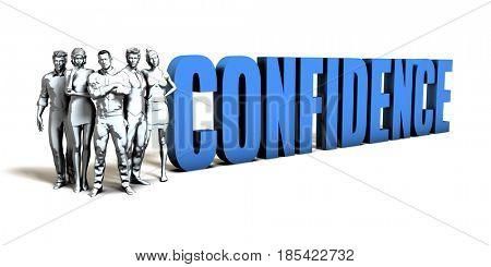 Confidence Business Concept as a Presentation Background 3D Illustration Render