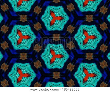 Abstract Extruded Pattern 3D Illustration Honeycombs