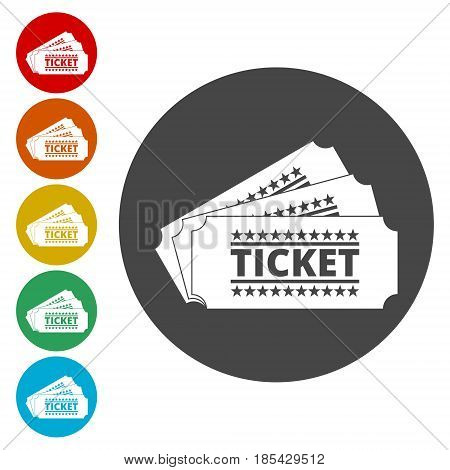 The ticket icon, Ticket symbol, simple vector icon