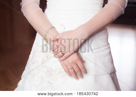 Woman with its hands and wedding ring, symbol bride, concept bride, bride with wedding ring
