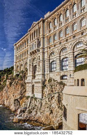 Monaco and Monte Carlo principality. Oceanographic museum building
