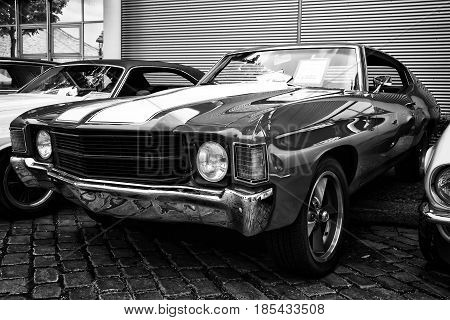 Berlin - May 11: Chevrolet Chevelle Ss Coupe (black And White), 26. Oldtimer-tage Berlin-brandenburg