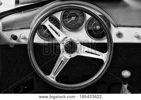 Berlin - May 11: Cab Porsche 356 Speedster (black And White) 26. Oldtimer-tage Berlin-brandenburg, M