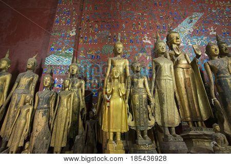 Laos Luang Prabang Wat Xieng Thong Buddha Figure