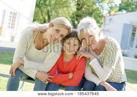 Portrait of three women generation