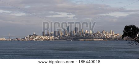 San Francisco California Downtown City Skyline Fisherman's Wharf New Construction