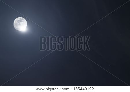 Full moon on the sky night time