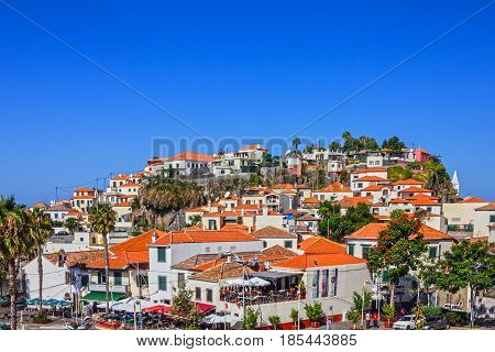 Madeira, Portugal - May 8, 2017: Fishing village Camara de Lobos, Portugal.