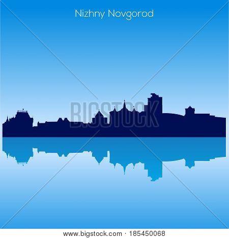 Detailed Vector skyline of Nizhnij Novgorod. Russia