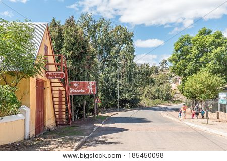 GENADENDAL SOUTH AFRICA - MARCH 27 2017: The historic Latrobe Coach House in Genadendal built 1827 houses the oldest ox-wagon in South Africa