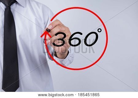 Businessman hand writing