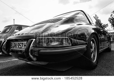 Berlin, Germany - May 11: The Porsche 911 Targa 2,4 T, Rear View (black And White),