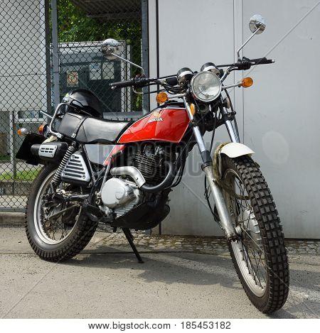 Berlin - May 11: Motorcycle Honda Xl250 Enduro, 26Th Oldtimer-tage Berlin-brandenburg, May 11, 2013