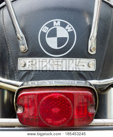 Berlin - May 11: The Rear Brake Lights Motorcycle Bmw R75/ 5, 26Th Oldtimer-tage Berlin-brandenburg,