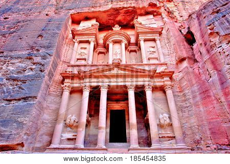 The Treasury (Al Khazneh) of Petra Ancient City, Jordan