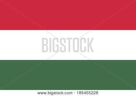 Flag of Hungary vector illustration Political symbol