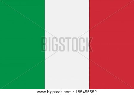 Italy flag, vector illustration. Political symbol color