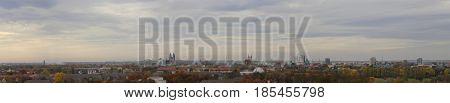 Panorama Of Magdeburg, Saxony-anhalt, Germany, In November