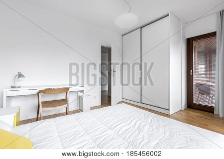 Bedroom With Large Wardrobe