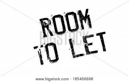 Room To Let rubber stamp. Grunge design with dust scratches. Effects can be easily removed for a clean, crisp look. Color is easily changed.