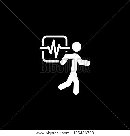 Cardio Workout and Medical Services Icon. Flat Design. Isolated.
