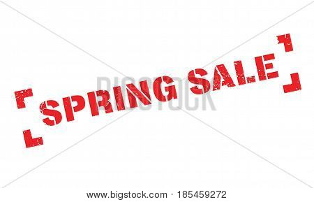 Spring Sale rubber stamp. Grunge design with dust scratches. Effects can be easily removed for a clean, crisp look. Color is easily changed.