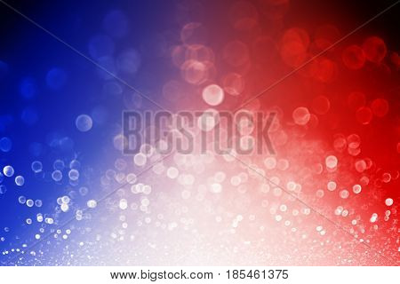 Abstract patriotic red white and blue glitter sparkle explosion background for celebrations, voting, July fireworks, memorial, labor day and elections