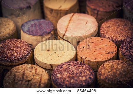 wine stopper cork collection background