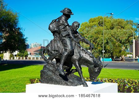 Simpson And His Donkey Anzac Memorial Statue.