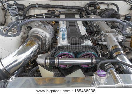 Toyota Supra 1987 Engine On Display
