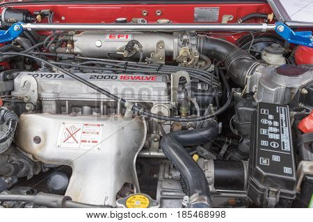 Toyota Celica Engine 1987 On Display