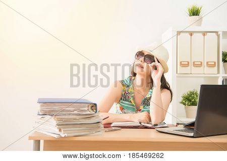 Woman Wearing Sunglass Looking Away