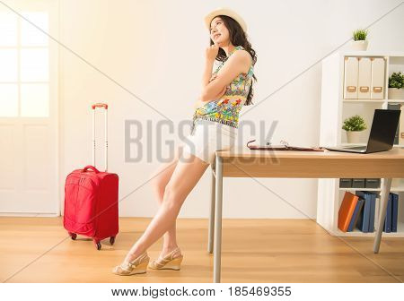 Woman Thinking Her Daydream Holiday