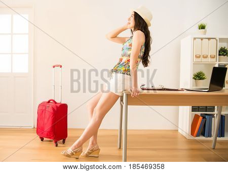 Business Woman Looking Away From Office