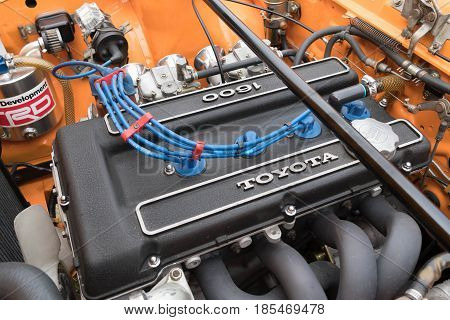 Toyota Celica Engine 1972 On Display
