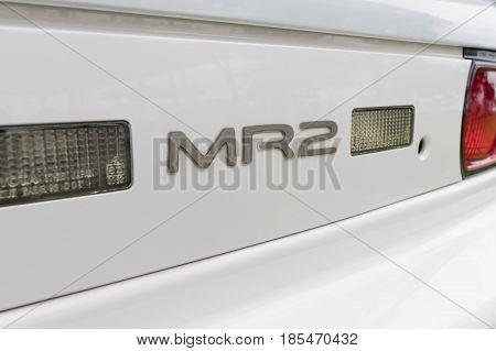 Toyota Mr2 1993 Emblem On Display