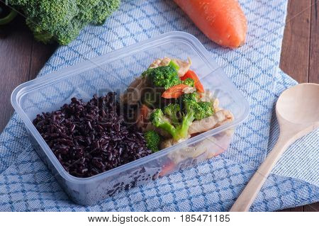 Stir Fried Mixed Vegetables And Rice Berry