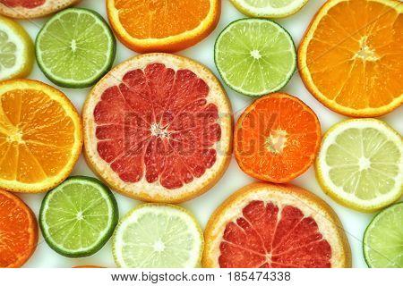 Fresh slices of citrus