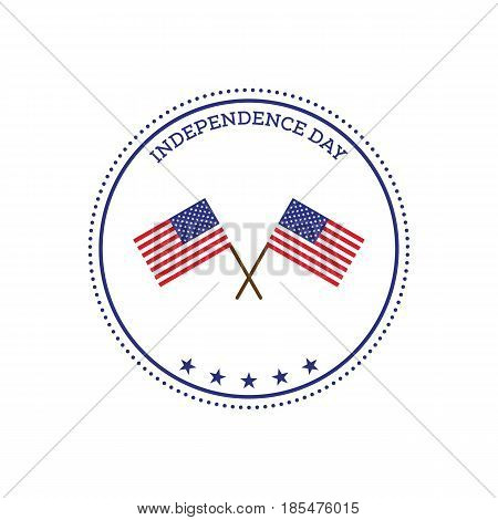 Fourth of July independence day United States of America icon flat design vector illustration