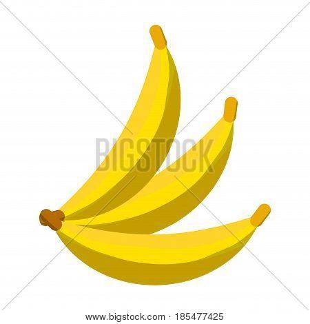 Delicius bananas fruit icon vector illustration graphic design