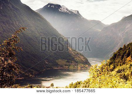 View On Geirangerfjord In Norway