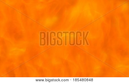 An extreme close up of different shades of orange of flames of a fire