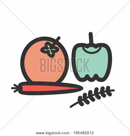 Vegetables, thanksgiving, food icon vector image. Can also be used for thanksgiving. Suitable for mobile apps, web apps and print media.