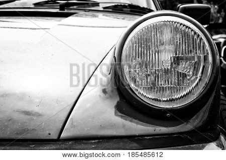 Berlin - May 11: Detail Of A Porsche 911 Sc (black And White), 26Th Oldtimer-tage Berlin-brandenburg