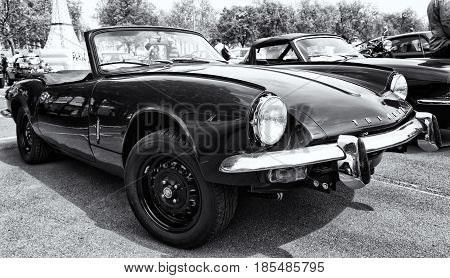 Berlin - May 11: Car Triumph Gt6, Black And White, 26Th Oldtimer-tage Berlin-brandenburg, May 11, 20
