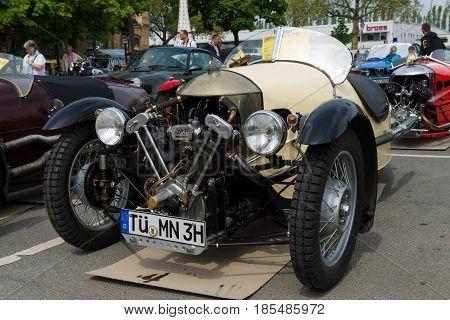 Berlin - May 11: Car Morgan Super Sports, V-twin Three-wheelers, 26Th Oldtimer-tage Berlin-brandenbu